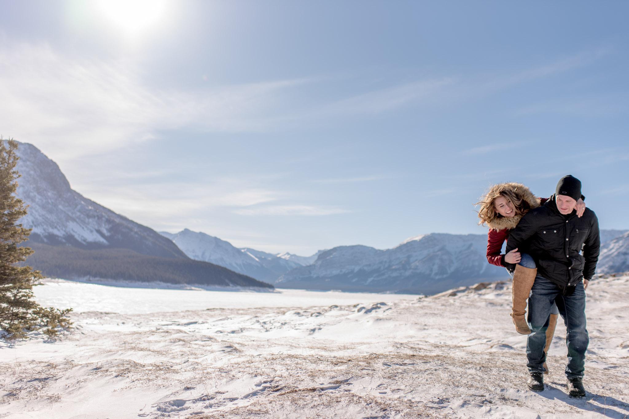 Nordegg Alberta engagement session with Edmonton photographer