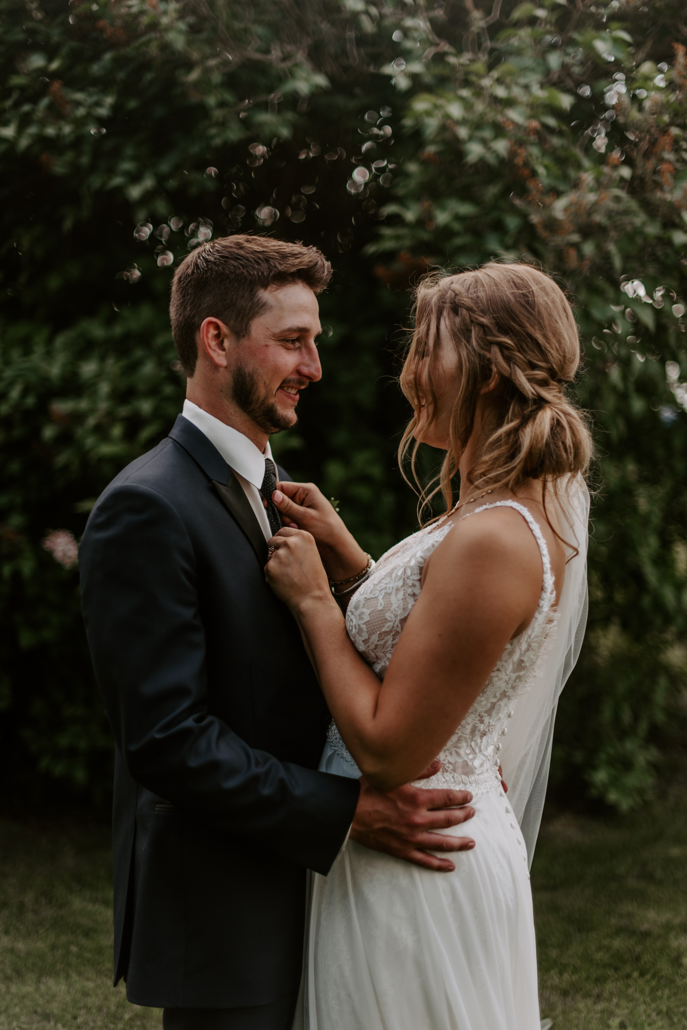 Romantic Edmonton Alberta outdoor wedding