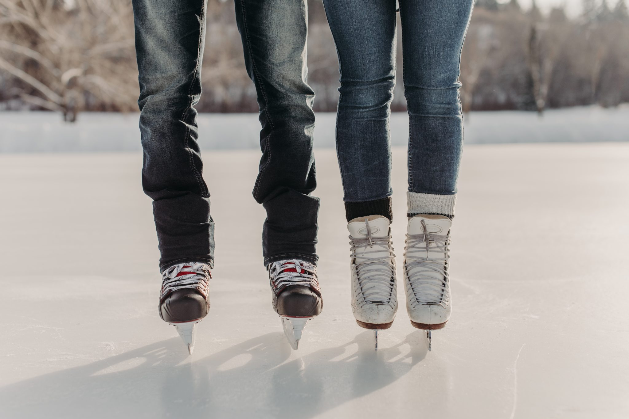 Skating Engagement Session in Edmonton Alberta