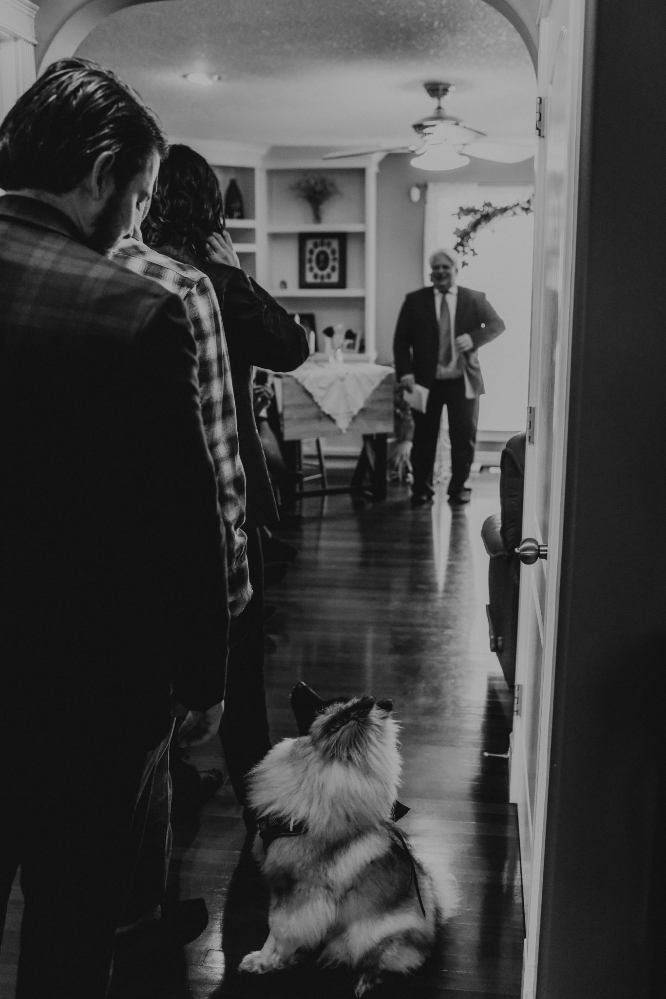 Intimate house wedding ceremony in St. Alberta