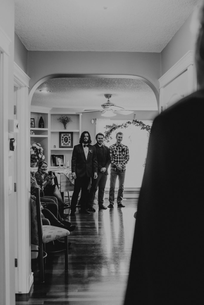 Intimate house ceremony in St. Albert