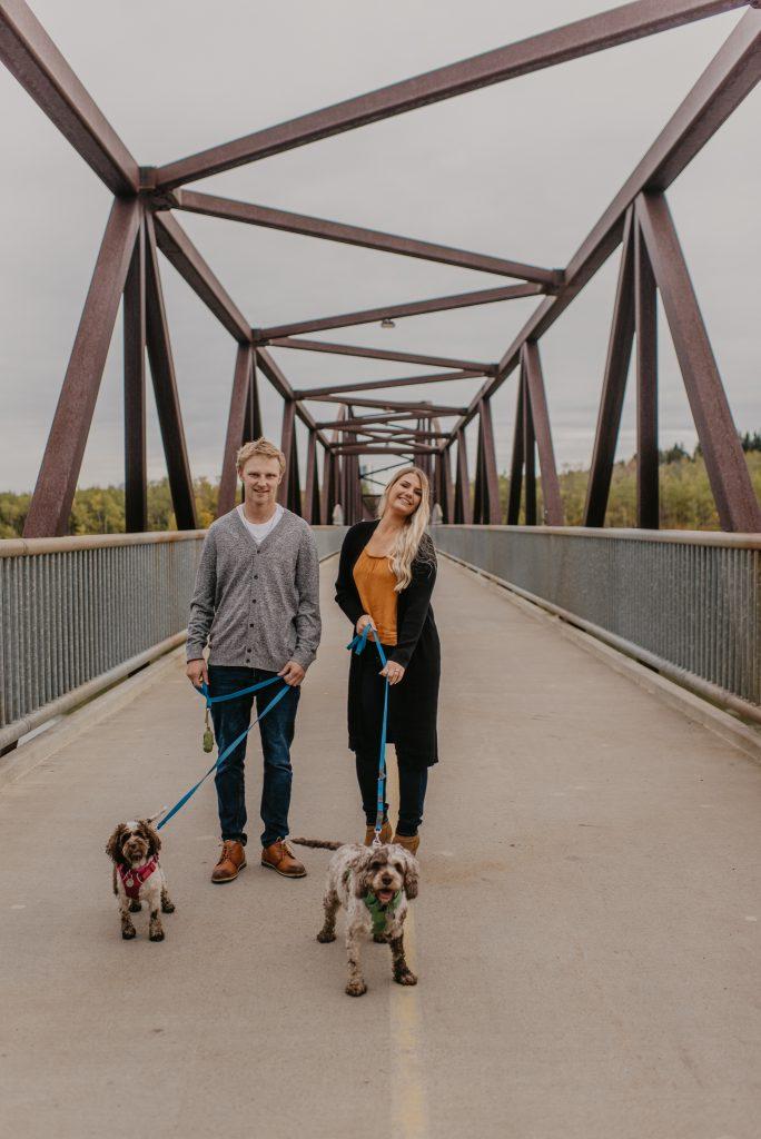 Edmonton dog park engagement photos