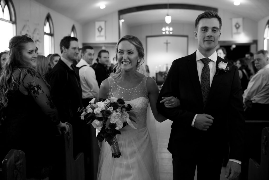 Edmonton Catholic Winter Wedding