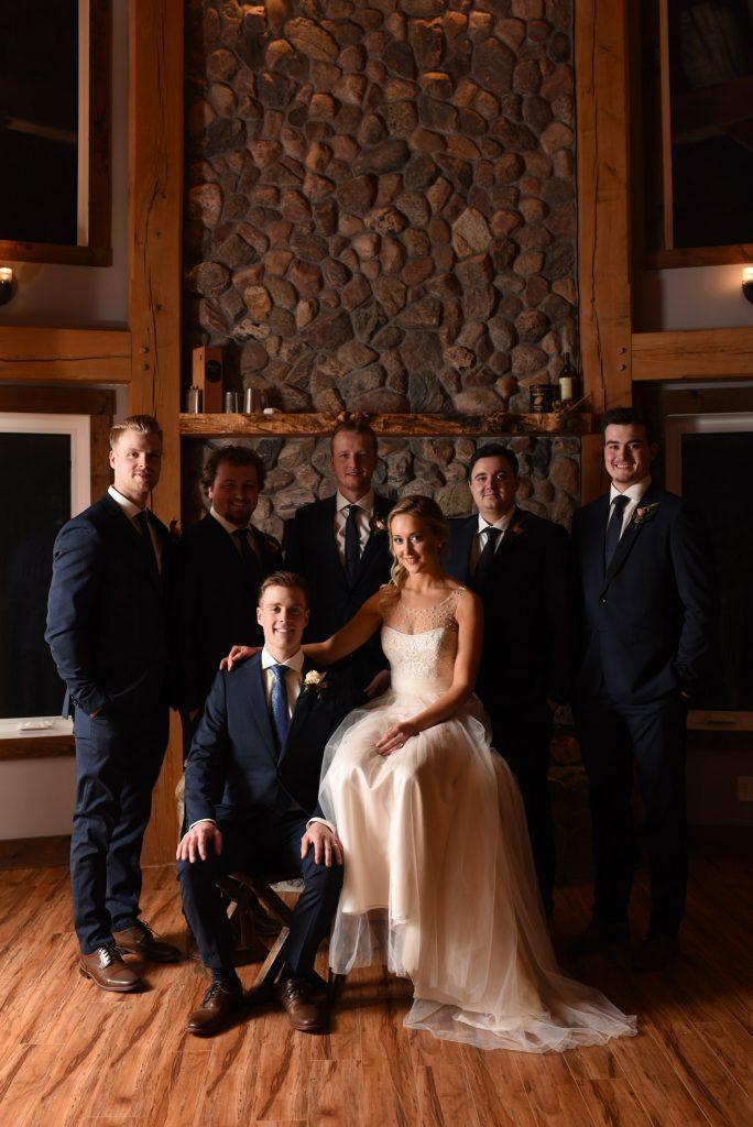 Romantic Winter Wedding New Years Eve Edmonton Alberta