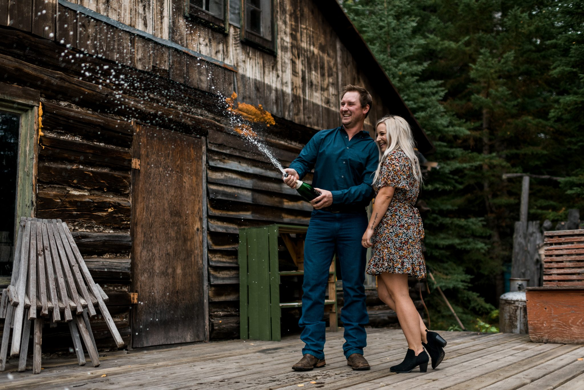 Cabin engagement session