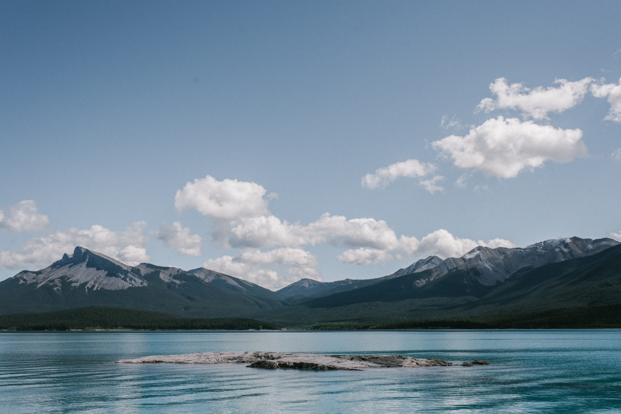 The view from Windy Point at Abraham Lake Alberta