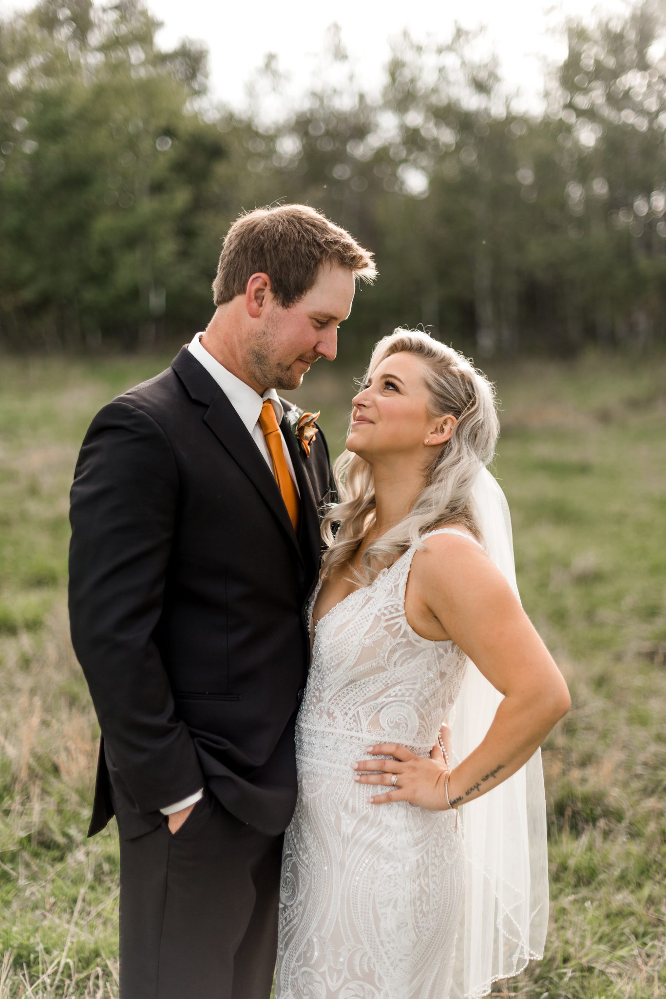 Alberta autumn country wedding with fall colours