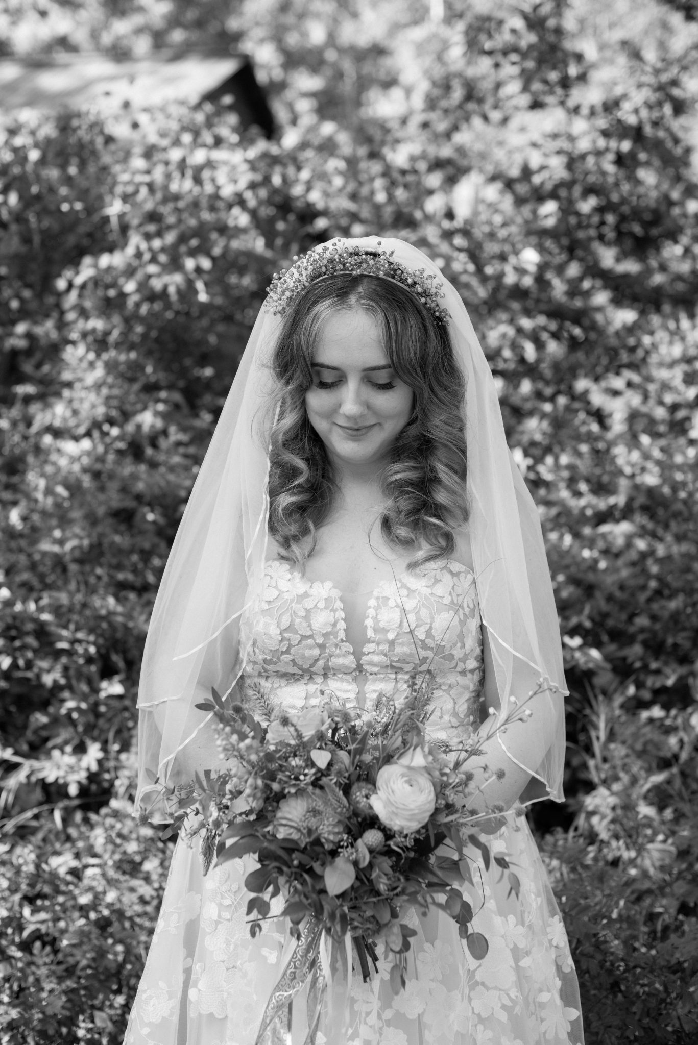 Fairytale wildflower bridal inspiration with vintage vibes