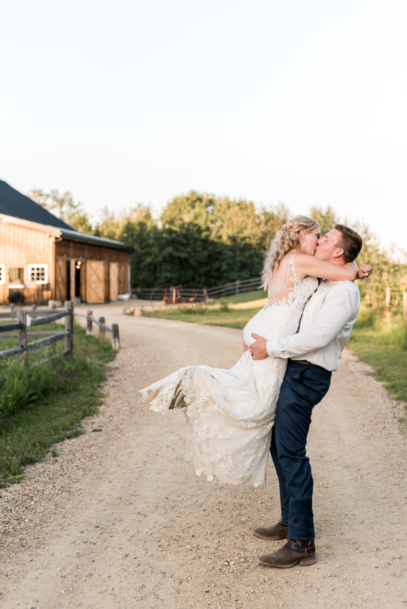 Western Wedding at Lions Garden in Alberta Canada