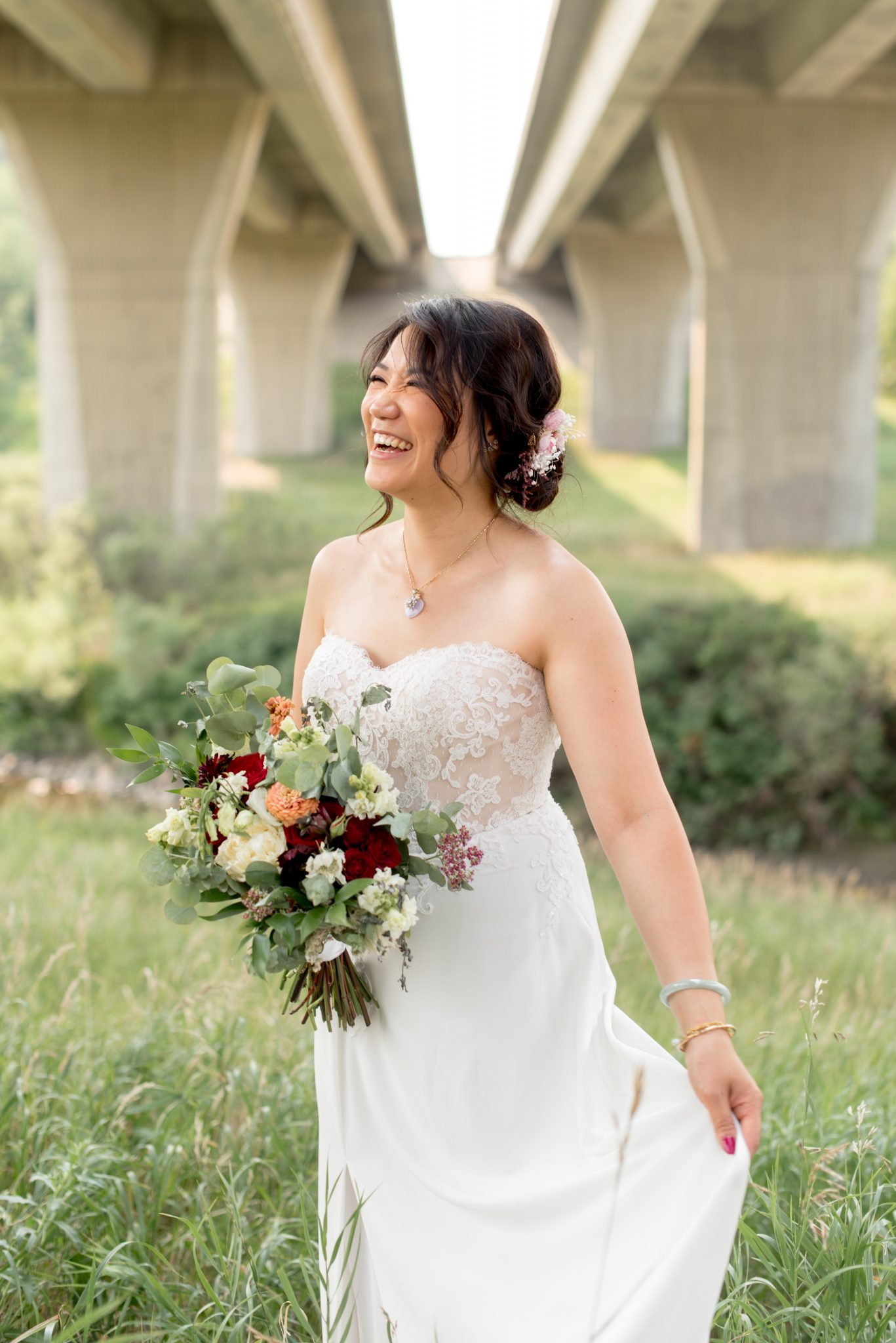 Romantic Bridal Updo for Edmonton Bride