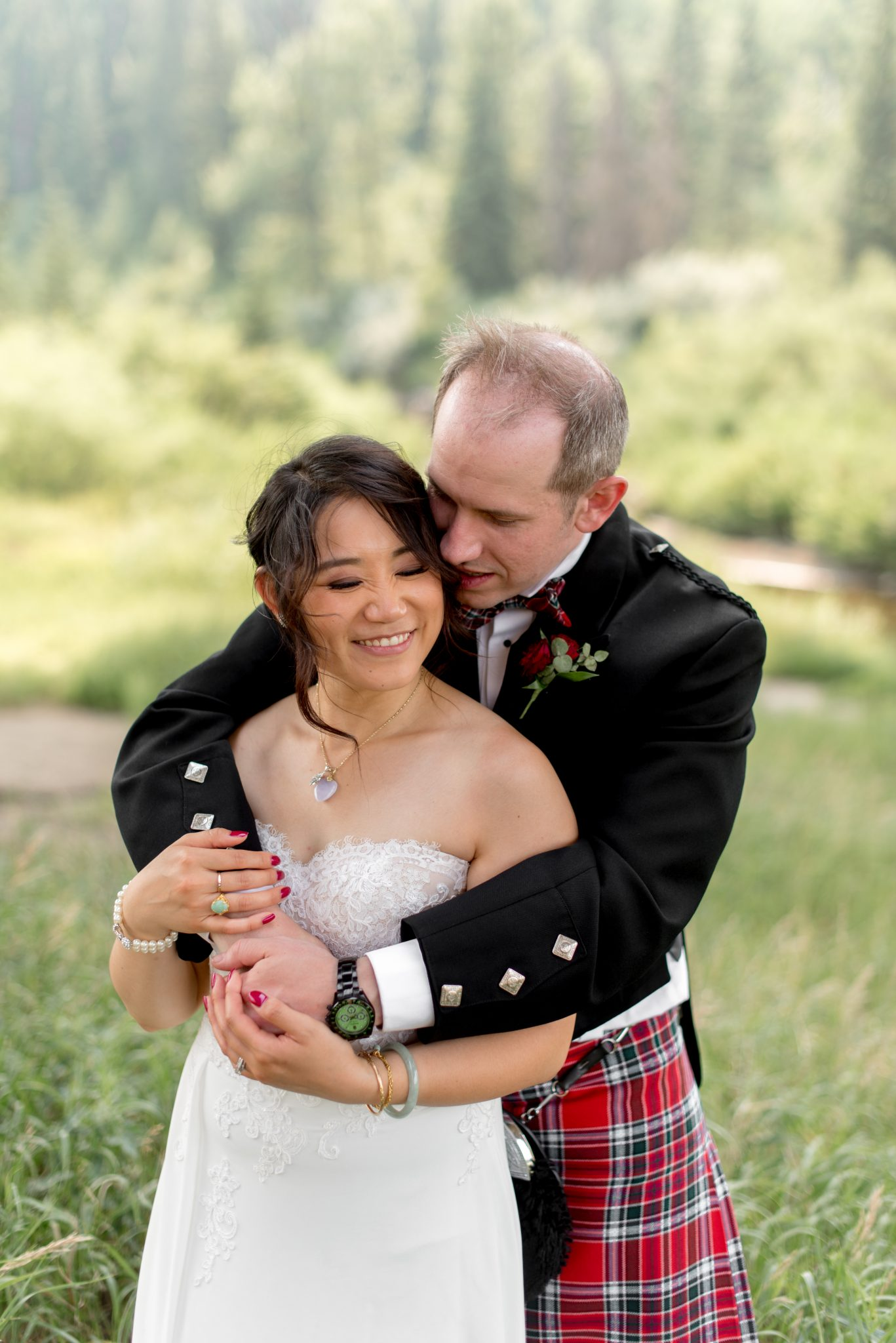 Multicultural Edmonton Wedding with Chinese and Scottish Heritage