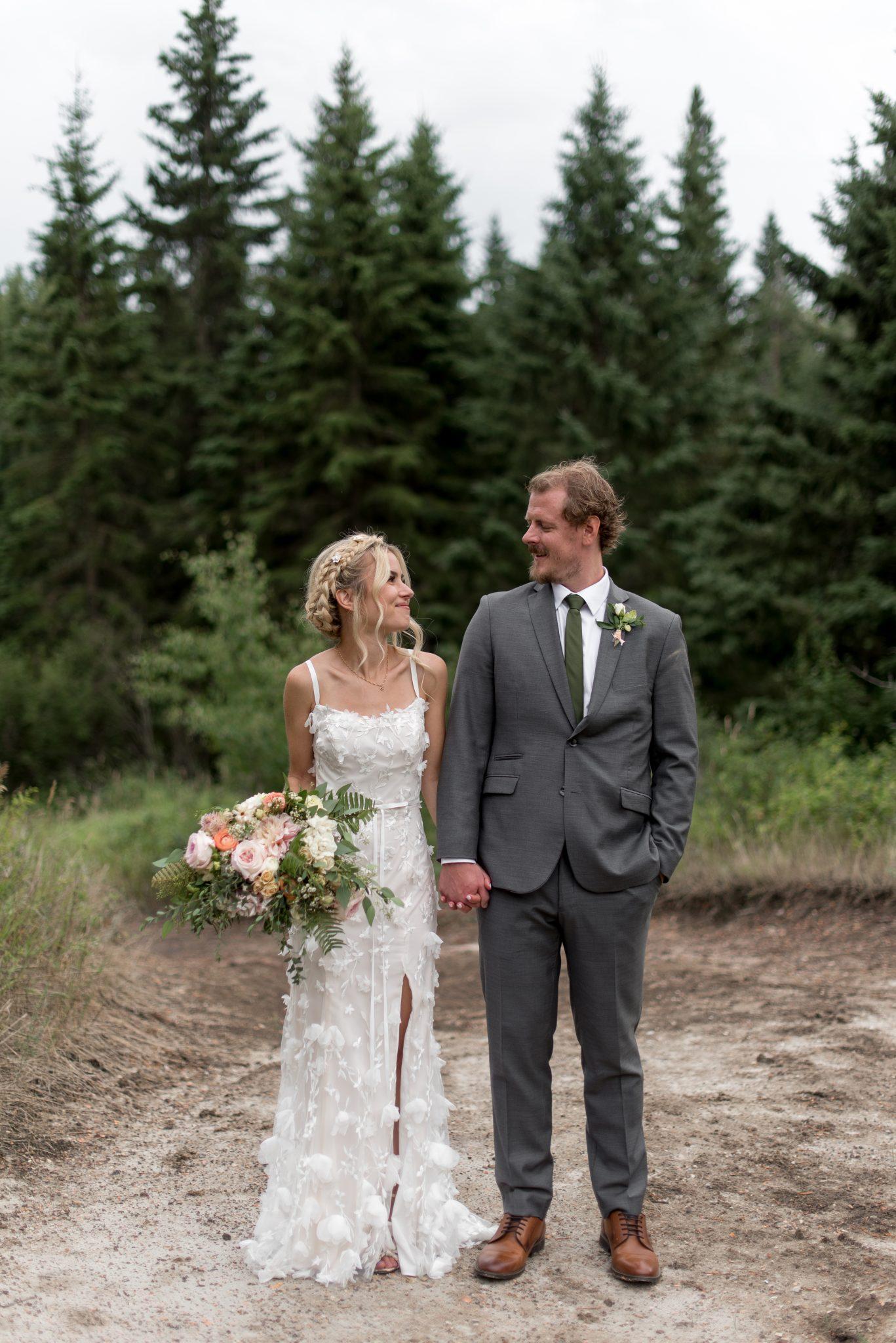 Bridal inspiration in a flower inspired BDHLN wedding gown