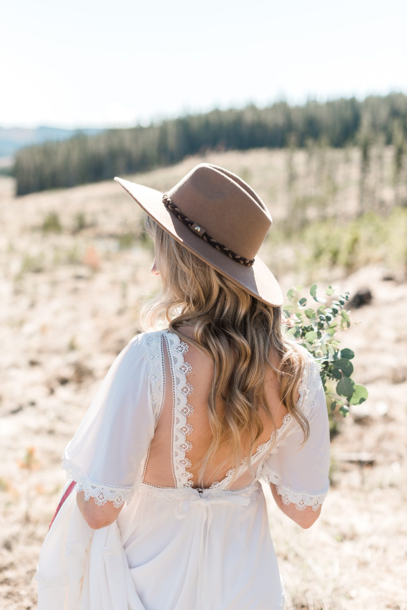 Cowgirl bridal inspiration with a boho gown by Abigail of Gardenia