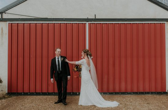 First Look Fall Wedding