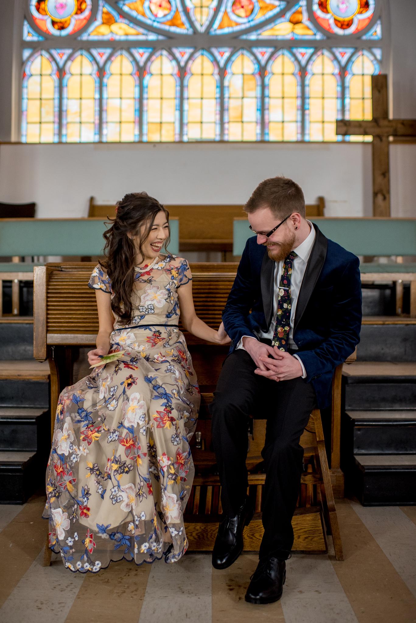 First Look Edmonton Alberta Wedding Photographer