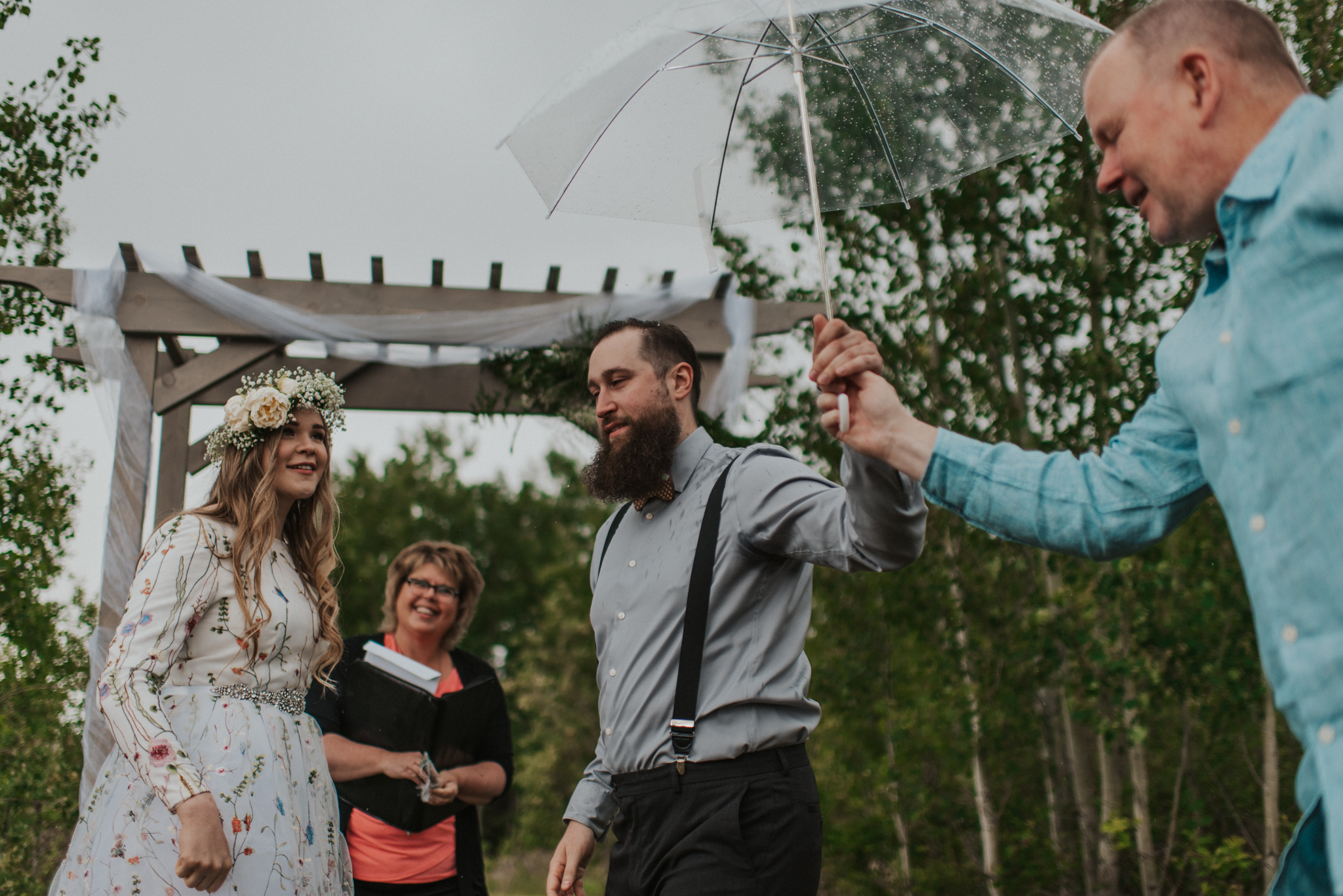 Rainy June wedding