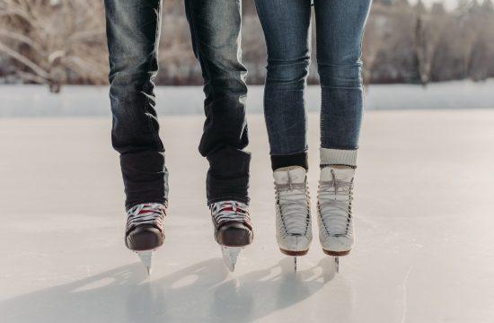 Skating Engagement Session in Edmonton Alberta