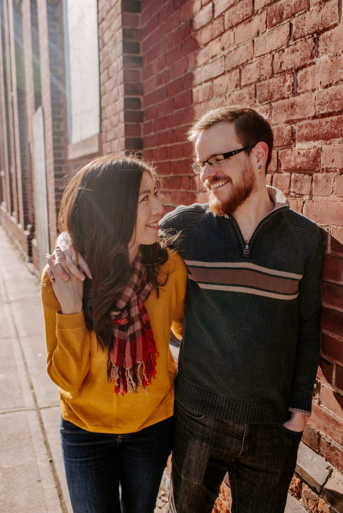 Distillery District Toronto Couples Photos
