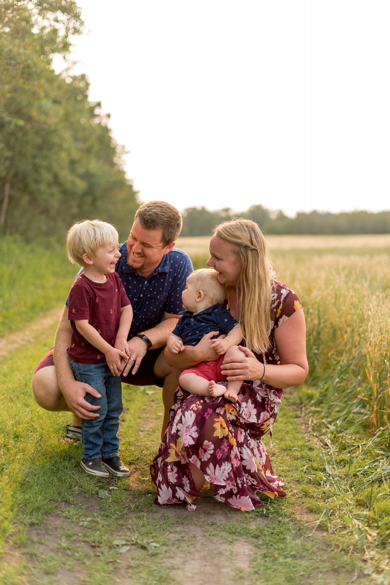 Sunset Family Photos in Edmonton Alberta