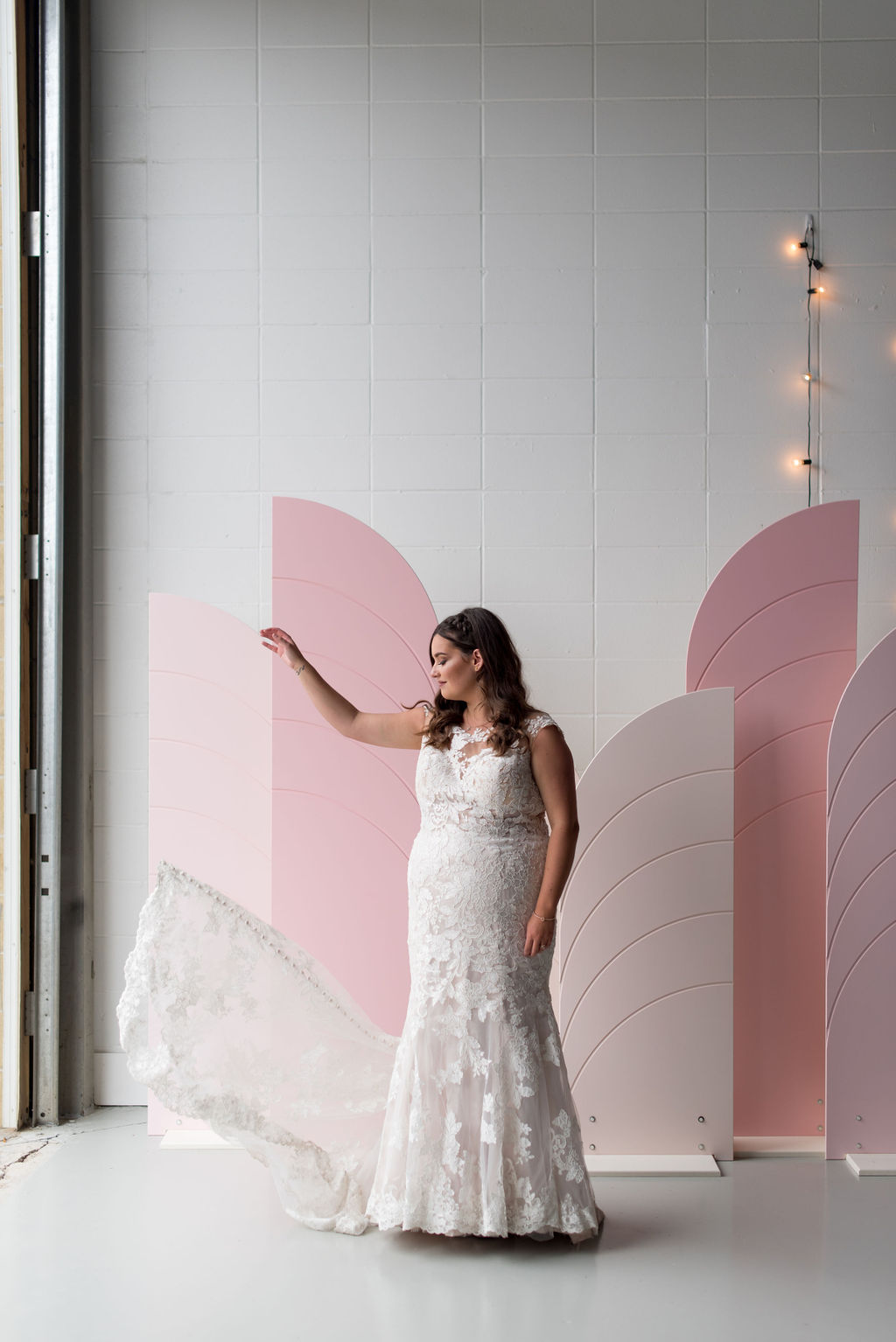 Bridal portrait at the Ellis, romantic, pink wedding