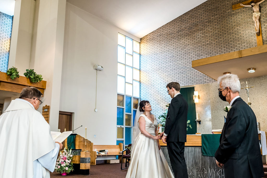 Edmonton Wedding, Church Wedding, Covid 19 Wedding, Catholic Wedding