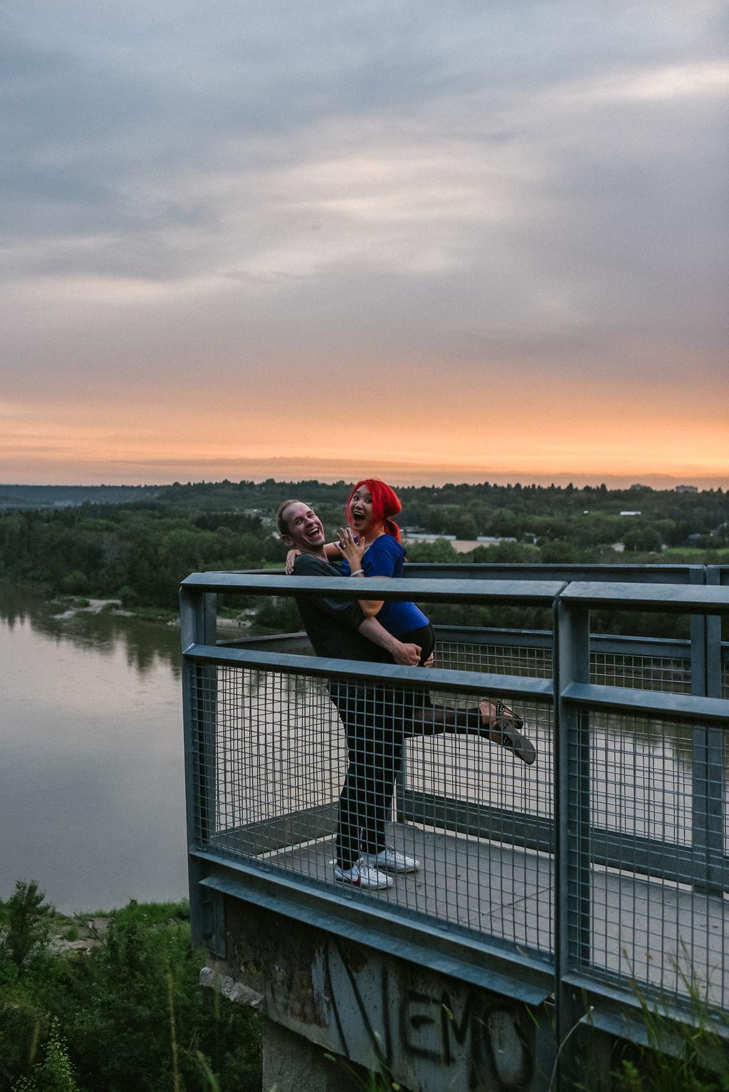 Edmonton River Valley Engagement Photos