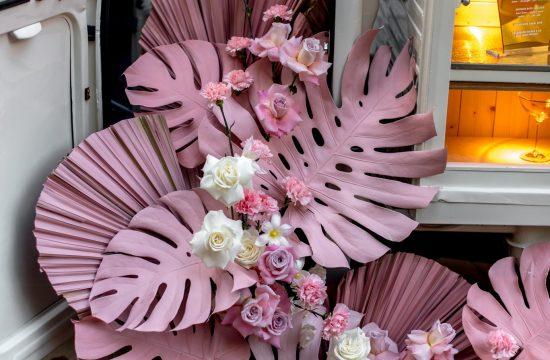 Pink wedding flowers, romantic wedding, boho wedding