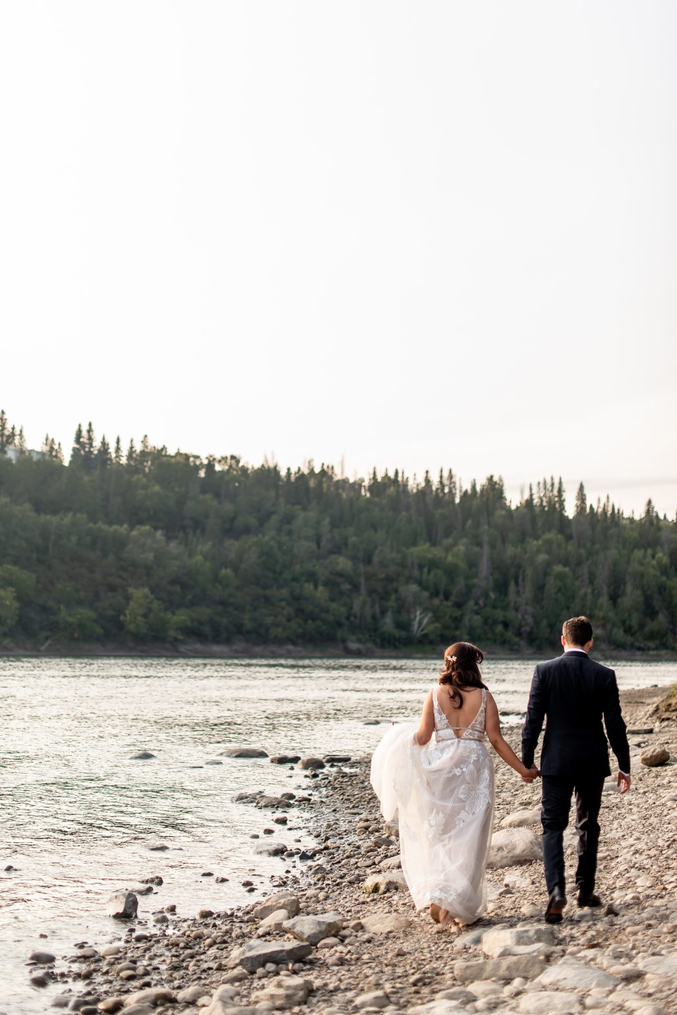 Edmonton Alberta elopement in the river valley