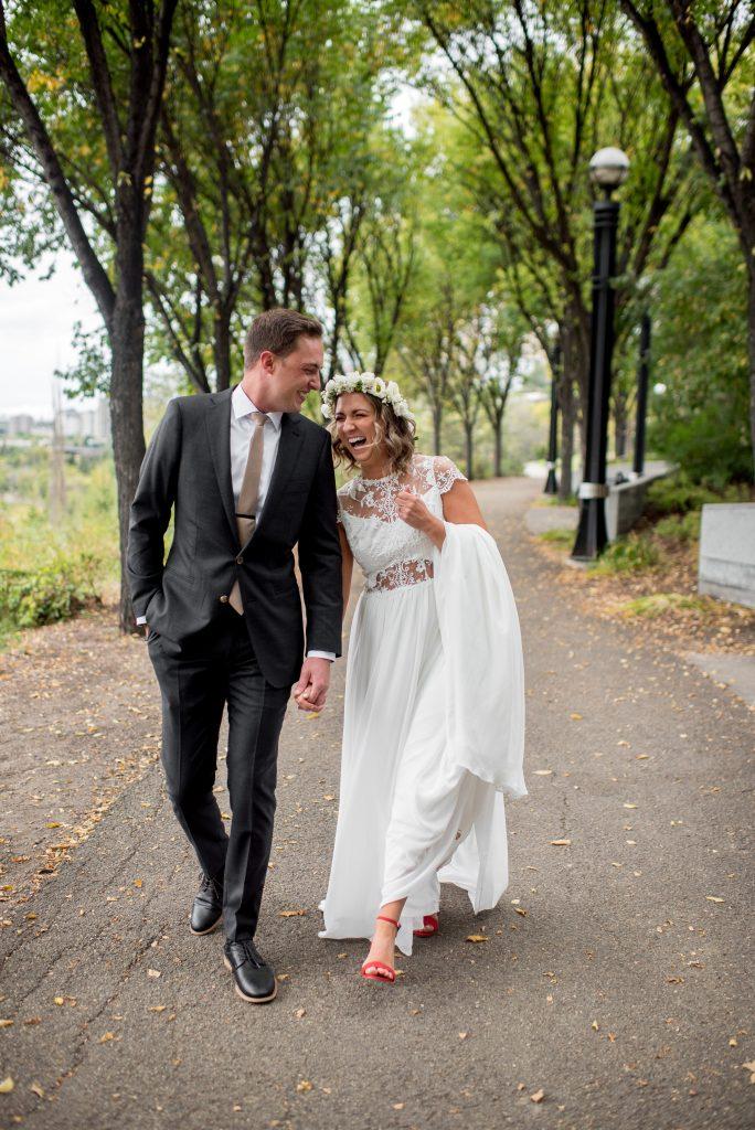 Edmonton River Valley wedding photos in Louise McKinney Park