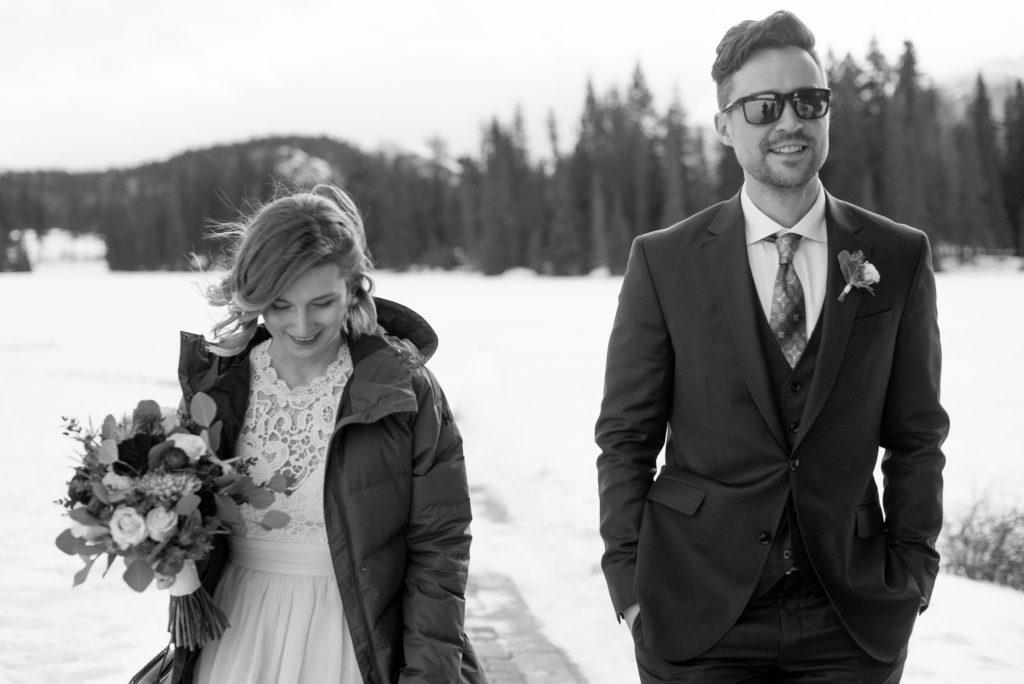 Winter elopement inspiration in Jasper National Park
