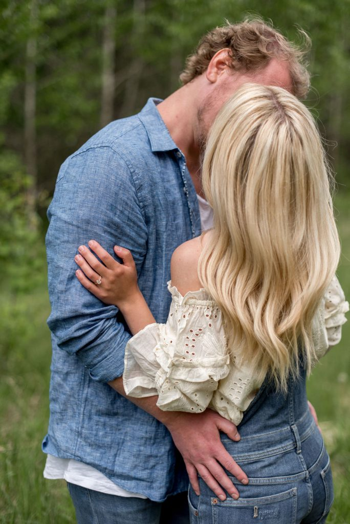 Denim and Anthropologie inspired summer engagement session