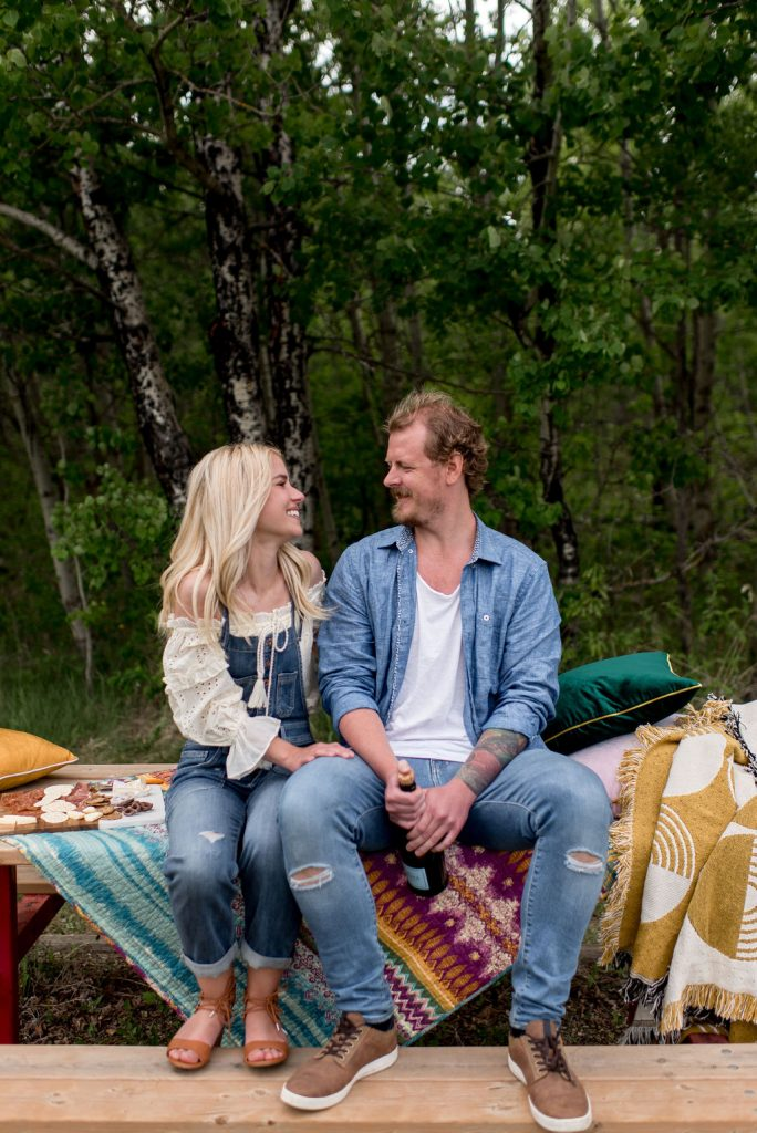 Colourful Anthropologie inspired engagement session