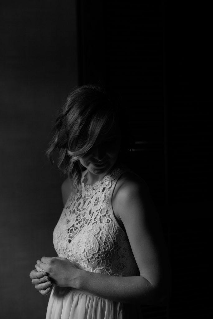 Romantic and moody bridal portraits